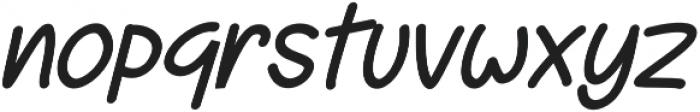 Jakaro Italic otf (400) Font LOWERCASE