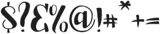 Jalani otf (400) Font OTHER CHARS
