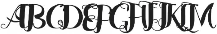 Jalani otf (400) Font UPPERCASE