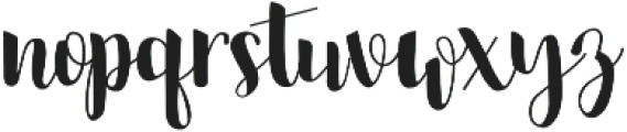 Jalani otf (400) Font LOWERCASE
