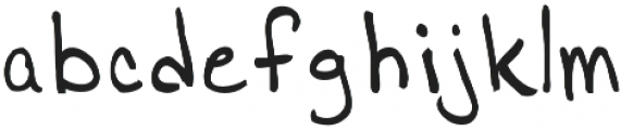 Jamies Hand Normal otf (400) Font LOWERCASE