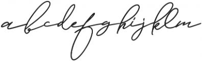 Jamsuit otf (400) Font LOWERCASE