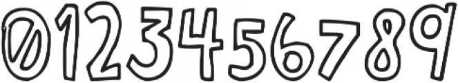 Janda Curlygirl Chunky ttf (400) Font OTHER CHARS