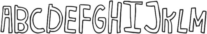 Janda Curlygirl Chunky ttf (400) Font UPPERCASE