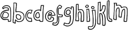 Janda Curlygirl Chunky ttf (400) Font LOWERCASE