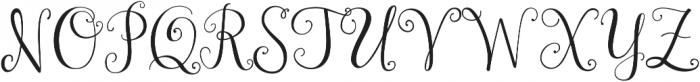 Janda Stylish Monogram ttf (400) Font UPPERCASE