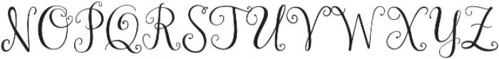 Janda Stylish Monogram ttf (400) Font LOWERCASE