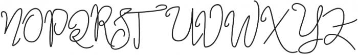 Jannet Script otf (400) Font UPPERCASE