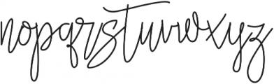 Jannet Script otf (400) Font LOWERCASE
