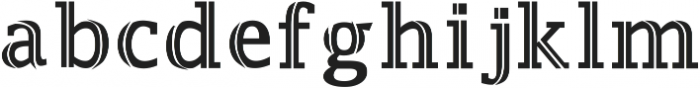 Jaqeen otf (700) Font LOWERCASE