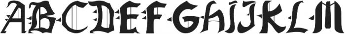 Jarryd ttf (400) Font UPPERCASE