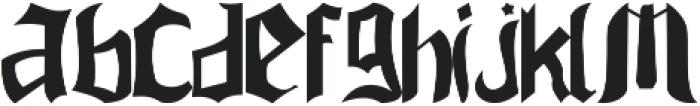 Jarryd ttf (400) Font LOWERCASE