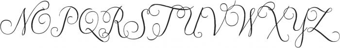 Jasminum otf (400) Font UPPERCASE