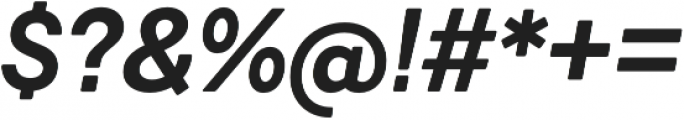 Javiera Bold It otf (700) Font OTHER CHARS
