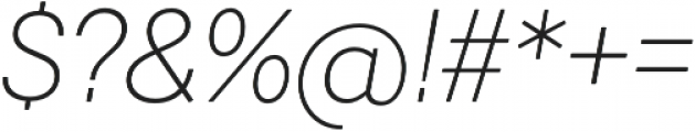 Javiera Light It otf (300) Font OTHER CHARS