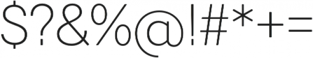 Javiera Light otf (300) Font OTHER CHARS