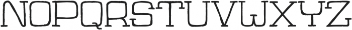 Jaywalk-Regular ttf (400) Font LOWERCASE