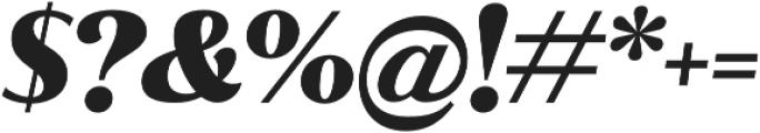 Jazmin Alt Black It otf (900) Font OTHER CHARS