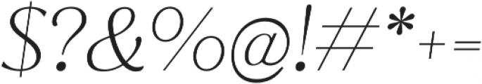 Jazmin Alt ExtraLight It otf (200) Font OTHER CHARS