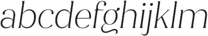 Jazmin Alt ExtraLight It otf (200) Font LOWERCASE