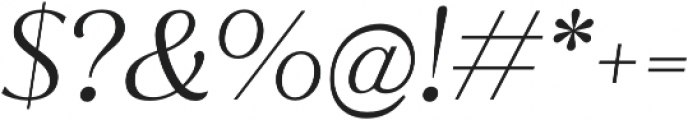 Jazmin Alt Light It otf (300) Font OTHER CHARS