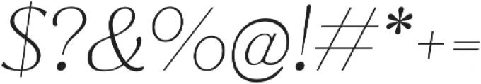 Jazmin Alt Thin It otf (100) Font OTHER CHARS