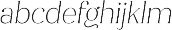 Jazmin Alt Thin It otf (100) Font LOWERCASE