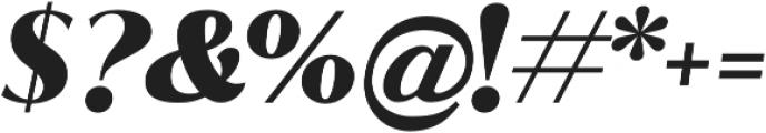 Jazmin Black It otf (900) Font OTHER CHARS