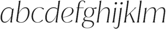 Jazmin ExtraLight It otf (200) Font LOWERCASE