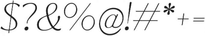 Jazmin Thin It otf (100) Font OTHER CHARS