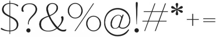 Jazmin Thin otf (100) Font OTHER CHARS