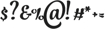 Jazz Script 1 Bold otf (700) Font OTHER CHARS
