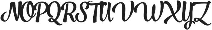 Jazz Script 1 Bold otf (700) Font UPPERCASE