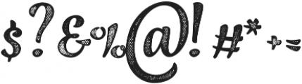Jazz Script 4 Bold otf (700) Font OTHER CHARS