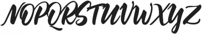 Jazzling Script otf (400) Font UPPERCASE