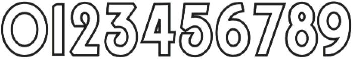 jamsuit outline otf (400) Font OTHER CHARS