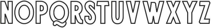 jamsuit outline otf (400) Font LOWERCASE