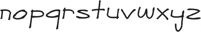 javier otf (400) Font LOWERCASE