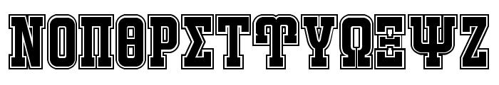 JACKPORT GREEK NCV Font UPPERCASE
