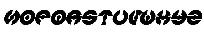 JAMES GLOVER Bold Italic Font UPPERCASE