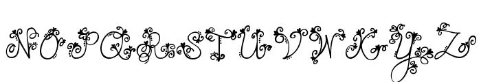 JANDA Love And Rain Font UPPERCASE
