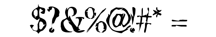 Jack the Hipper Font OTHER CHARS