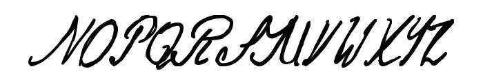 Jack the Ripper Dear Boss Letter Font UPPERCASE