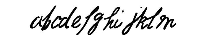 Jack the Ripper Dear Boss Letter Font LOWERCASE