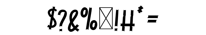 Jackal Regular Font OTHER CHARS
