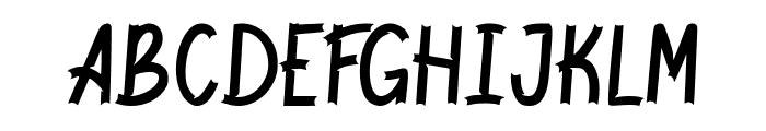 Jackal Regular Font UPPERCASE