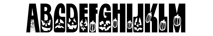 Jackie O'Lantern Font UPPERCASE