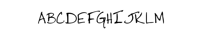 Jacki's Hand Font UPPERCASE