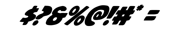 Jack's Candlestick Italic Font OTHER CHARS