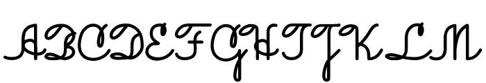 JacobCursive Font UPPERCASE